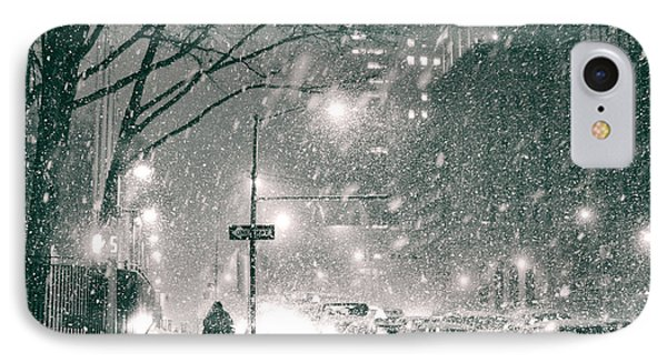 Snow Swirls At Night In New York City IPhone Case by Vivienne Gucwa