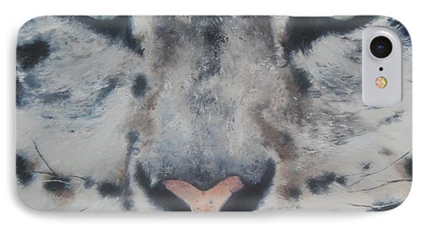 IPhone Case featuring the painting Snow Tiger by Cherise Foster