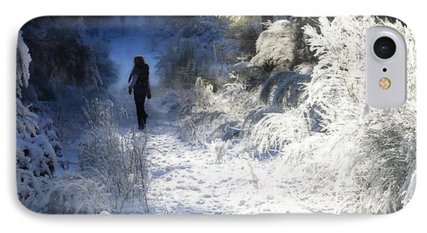 Snow Walking 2 IPhone Case by Ronda Broatch