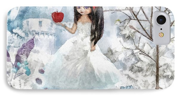Snow White Phone Case by Mo T