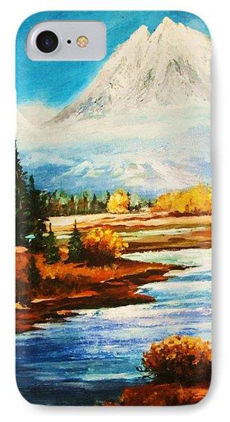 Snow White Peaks IPhone Case by Al Brown