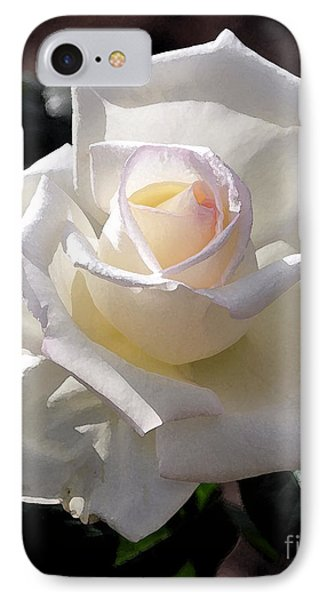 Snow White Rose IPhone Case by Kirt Tisdale
