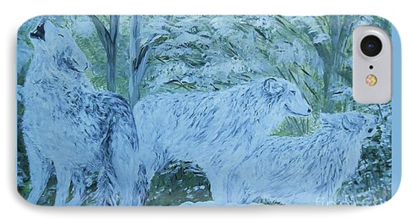 Snow Wolves Phone Case by Eloise Schneider