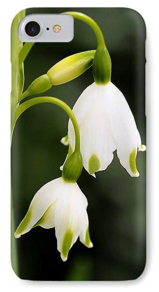 Snowbells In Spring IPhone Case