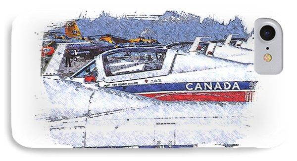 Snowbirds IPhone Case by Richard Farrington