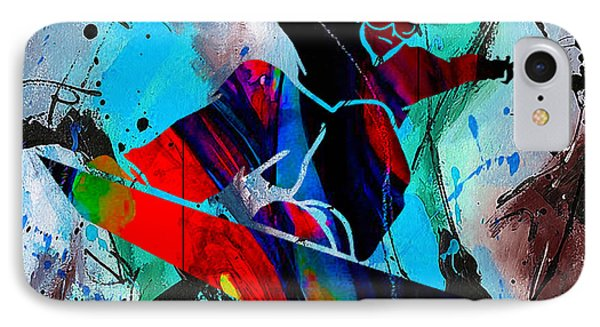 Snowboarding Painting IPhone Case