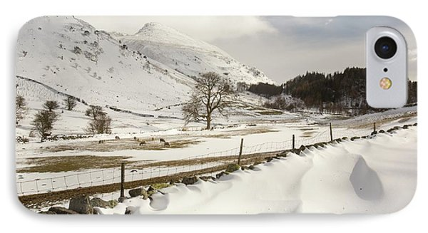 Snowdrifts Below Helvellyn IPhone Case by Ashley Cooper