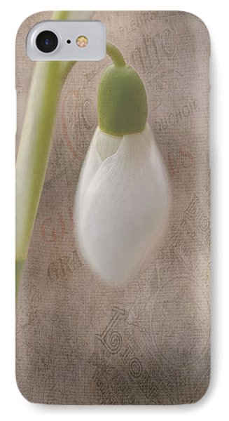 Snowdrop Bud IPhone Case by Faith Simbeck