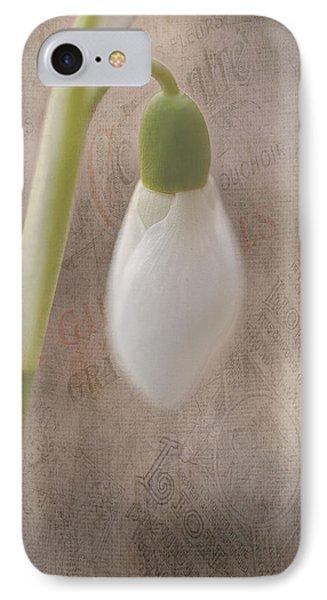 Snowdrop Bud Phone Case by Faith Simbeck