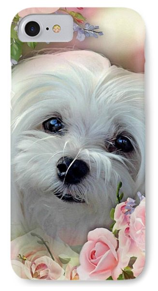 IPhone Case featuring the photograph Snowdrop The Maltese by Morag Bates