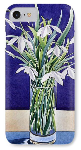 Snowdrops  IPhone Case by Christopher Ryland