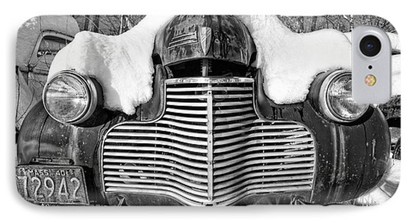 Snowed In A Thick Blanket Of Snow Covering A Vintage Chevy IPhone Case