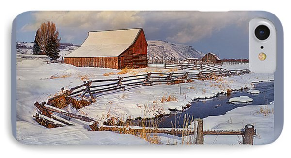 IPhone Case featuring the photograph Snowed In by Priscilla Burgers