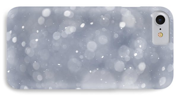 Snowfall Background IPhone Case by Elena Elisseeva