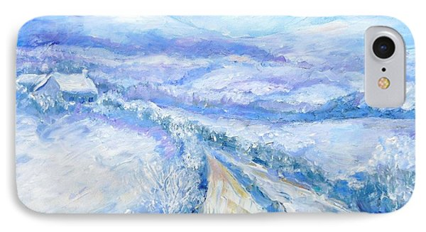 Snowfall On The Laneway  Phone Case by Trudi Doyle