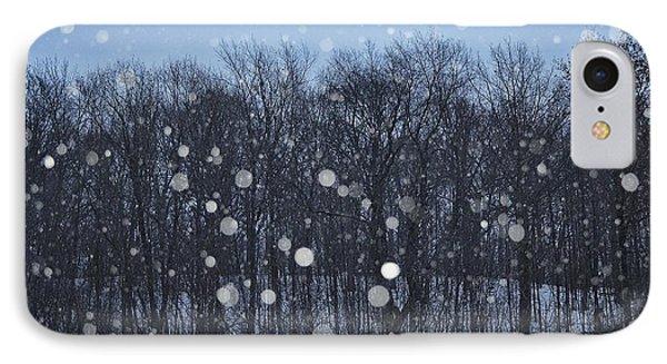 Snowfall Treeline IPhone Case by Nikki McInnes