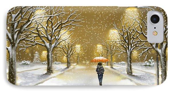 Snowfall IPhone Case by Veronica Minozzi