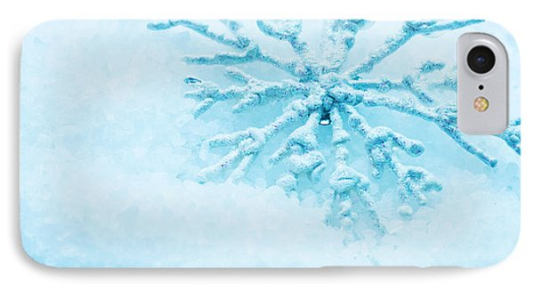 Snowflake In Snow Phone Case by Michal Bednarek