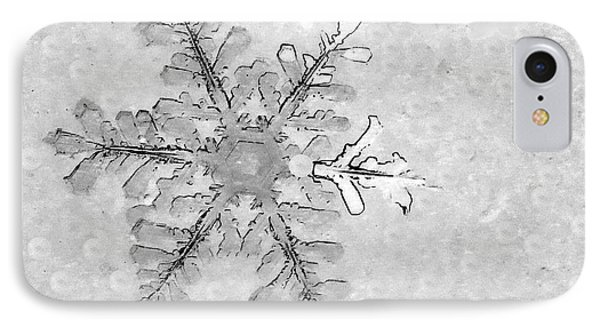 Snowflake On Windshield IPhone Case