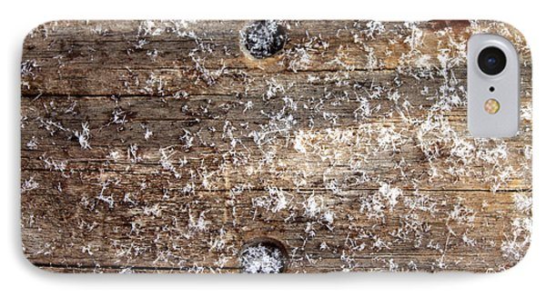 Snowflakes On Wood IPhone Case by Barbara Giordano