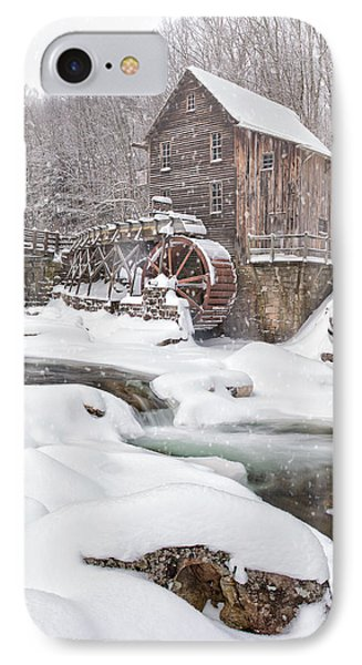Snowglade Creek Grist Mill IPhone Case by Emmanuel Panagiotakis