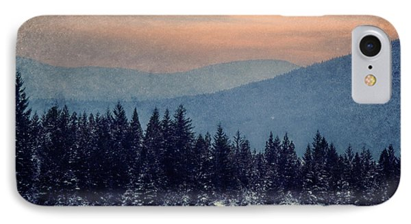 Snowing Sunset Phone Case by Melanie Lankford Photography