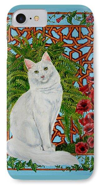 IPhone Case featuring the painting Snowi's Garden by Leena Pekkalainen