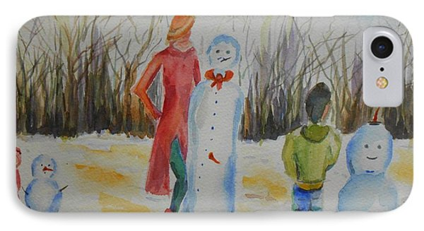 Snowman Competition IPhone Case by Geeta Biswas