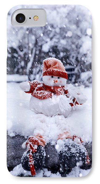 Snowman IPhone Case by Joana Kruse