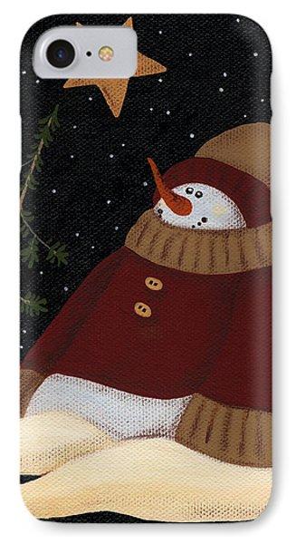 Snowman IPhone Case by Natasha Denger