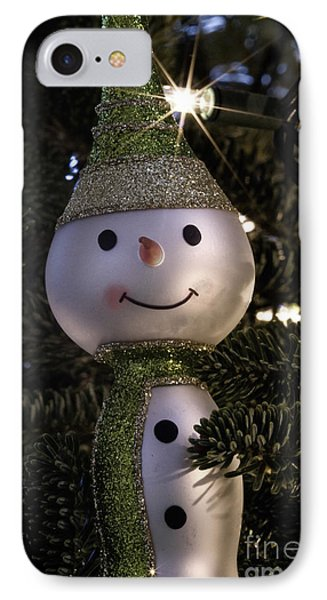 Snowman Ornament IPhone Case by Birgit Tyrrell