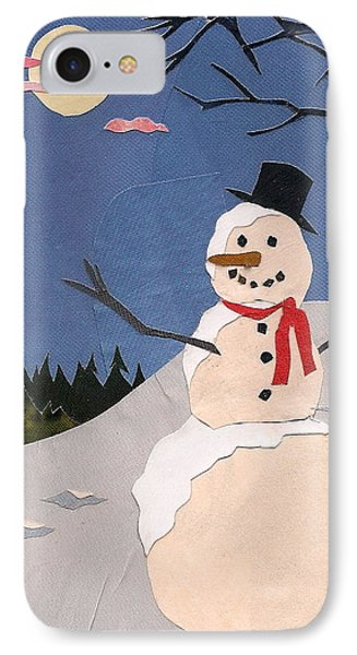 Snowman IPhone Case by Robin Birrell