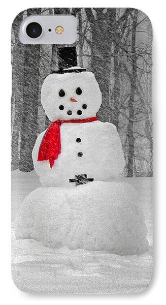 Snowman Phone Case by Steven Michael