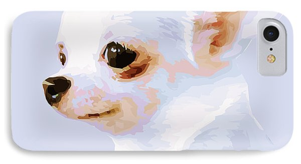 Snowman - White Chihuahua IPhone Case by Rebecca Korpita