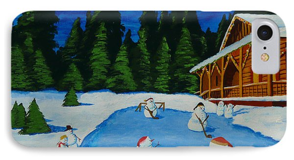 Snowmans Hockey Two Phone Case by Anthony Dunphy