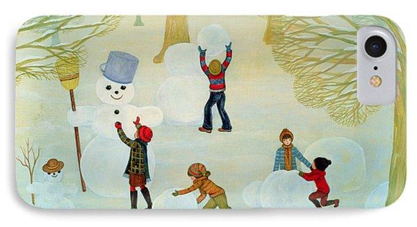 Snowmen IPhone Case by Ditz