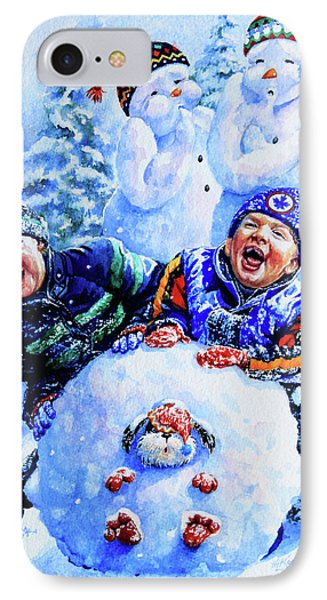 Snowmen IPhone Case by Hanne Lore Koehler