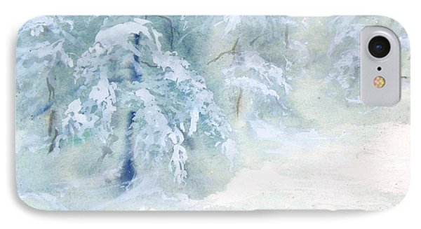 IPhone Case featuring the painting Snowstorm by Joy Nichols