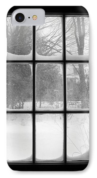 Snowstorm Outside The Windowpanes IPhone Case by Patricia E Sundik