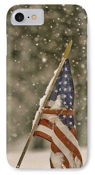 Snowy American IPhone Case by Trish Tritz