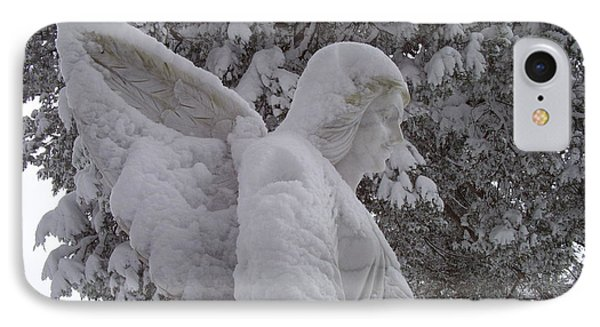Snowy Angel Phone Case by Kevin Croitz