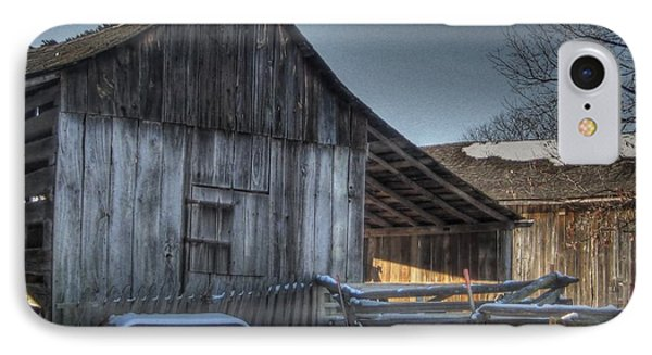 Snowy Barn Phone Case by Jane Linders