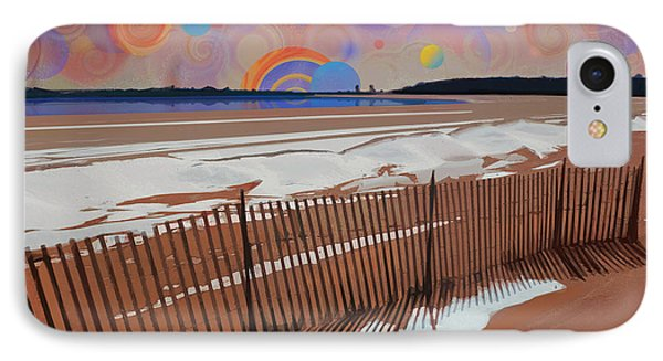 Snowy Beach IPhone Case by David Klaboe