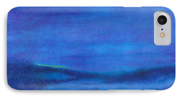 Snowy Blue Nocturne IPhone Case by Judith Cheng