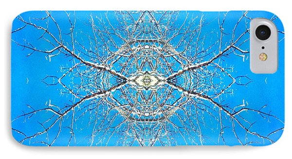 Snowy Branches In The Sky Abstract Art Photo IPhone Case