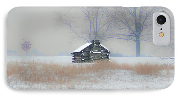 Snowy Cabin At Valley Forge Phone Case by Bill Cannon