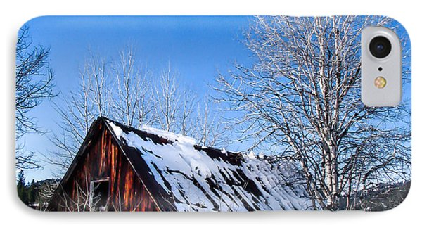 Snowy Cabin Phone Case by Robert Bales