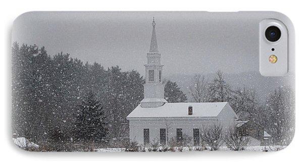 Snowy Church IPhone Case by Ann Bridges