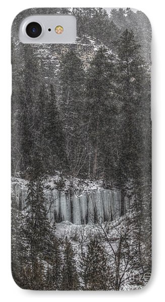 The Snowy Cliffs Of Spearfish Canyon South Dakota IPhone Case