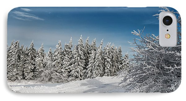 Snowy Country Lane IPhone Case by Lois Bryan